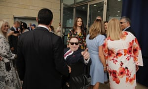 Sheldon Adelson attends the opening ceremony of the new US embassy in Jerusalem in May.