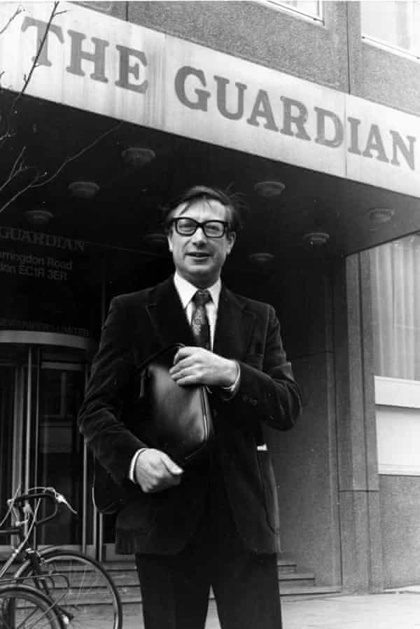 Edward Greenfield outside the Guardian's former offices on Farringdon Road, London