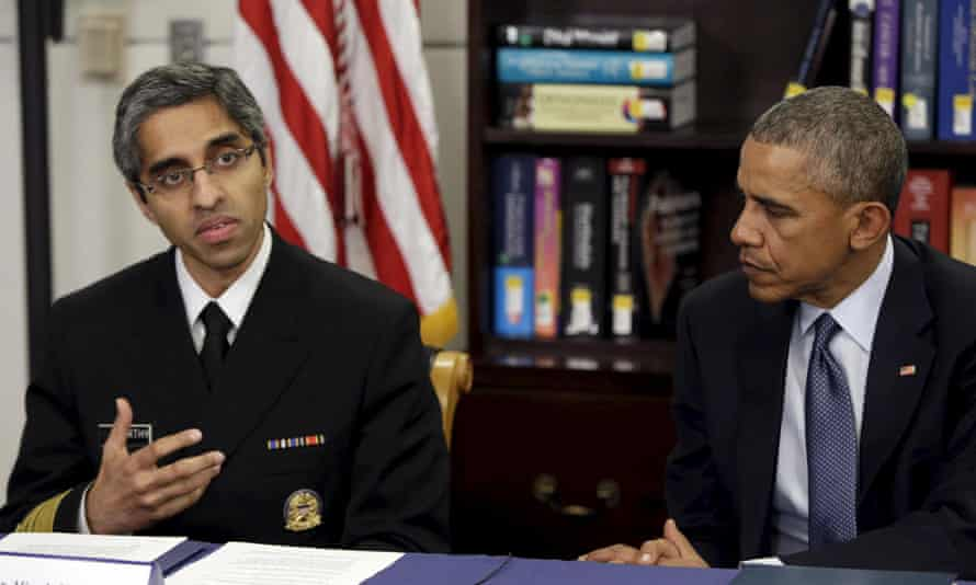 Barack Obama with Vivek Murthy