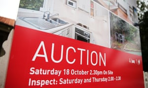 An auction sign outside a house in Sydney
