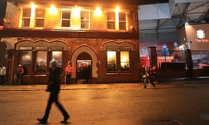 The Albert pub, next to the Kop end of Liverpool's stadium