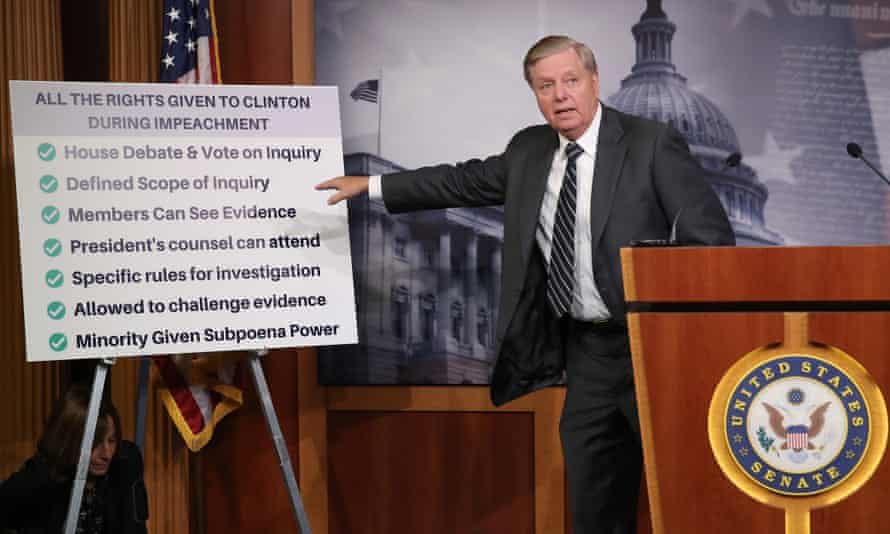 Lindsey Graham talks about the Clinton impeachment while introducing a resolution condemning the House impeachment inquiry.