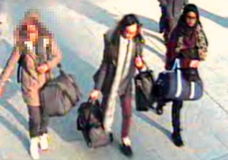 The girls at Gatwick airport