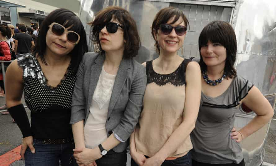 (L-R) Janet Weiss, Carrie Brownstein, Mary Timony, and Rebecca Cole of Wild Flag at the 2011 SXSW music festival.
