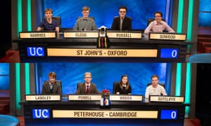 University Challenge St John's Oxford v Peterhouse Cambridge.