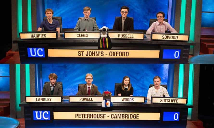 University Challenge St John's Oxford v Peterhouse Cambridge.