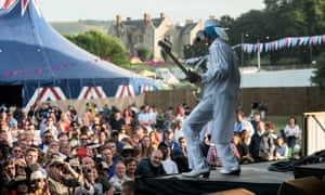 Performer during a daytime gig at  A Love Supreme, Sussex, jazz festival. UK