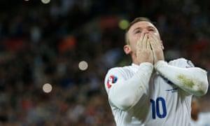 Wayne Rooney celebrates scoring for England against Switzerland