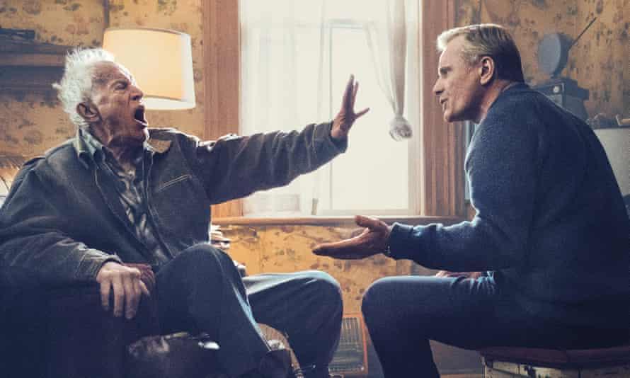 A family in pain … Lance Henriksen and Viggo Mortensen in Falling