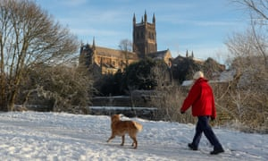 Winter wonderland: make sure you find a place to walk that isn't polluted.