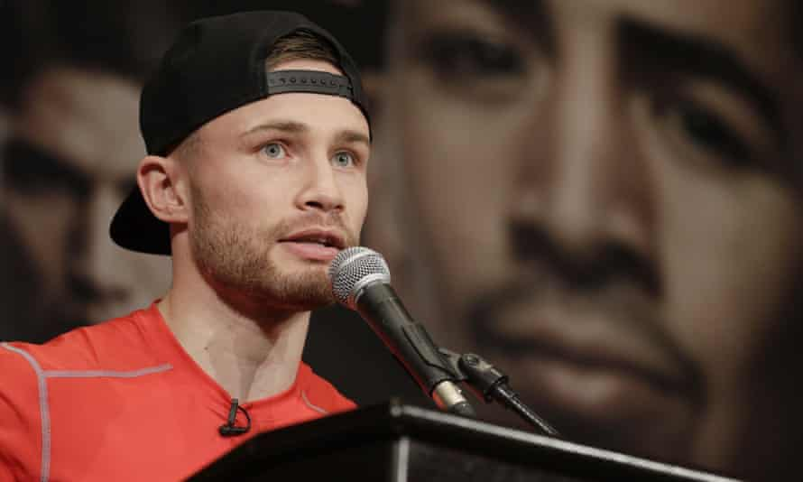 Carl Frampton defends his WBA featherweight title for the first time against the man he beat to take the crown, Leo Santa Cruz.
