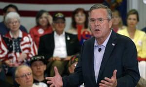 Jeb Bush speaks at a campaign stop in Colorado.