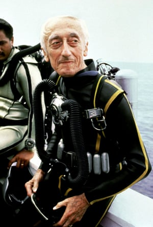 Jacques Cousteau, oceanographer and inventor.