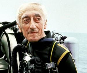 Céline's grandfather, Jacques Cousteau