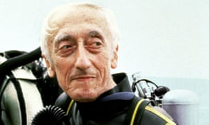 Jacques Cousteau, who led underwater expeditions from his boat, Calypso.