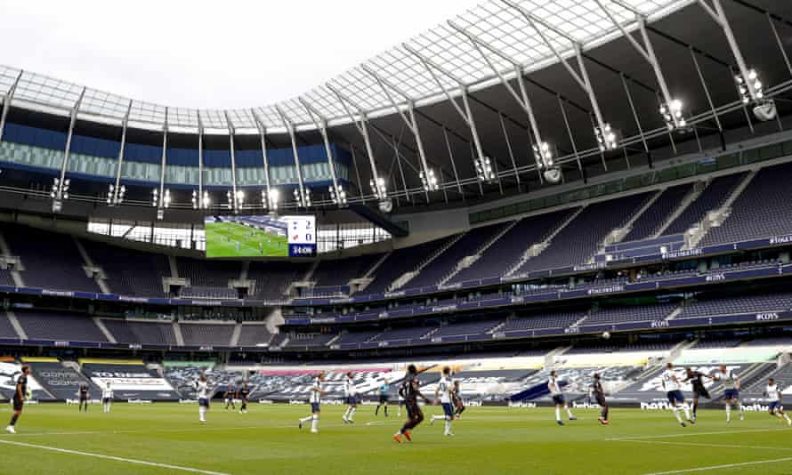 An empty Tottenham Hotspur Stadium hosted a friendly against Reading last week.