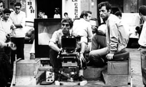 Costa-Gavras filming on location in Algeria with cinematographer Raoul Coutard.
