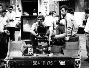 Cinematographer Raoul Coutard filming Z with director Costa-Gavras on location in Algeria in 1969