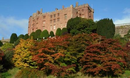Powis Castle in Wales in early autumn