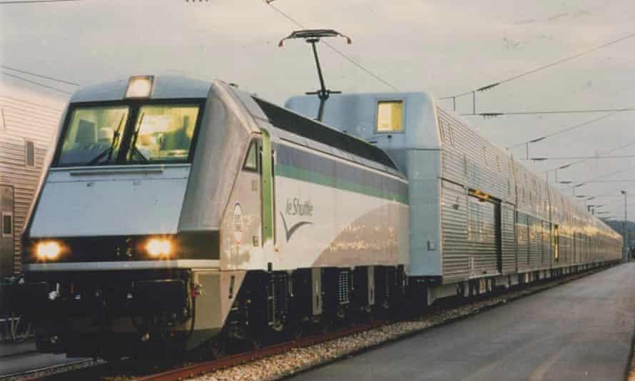 David Carter's Eurotunnel Le Shuttle train in operation