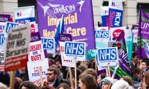 Student nurses protest against plans to cut training bursaries