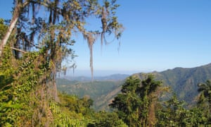 The Sierra Maestra mountain range, Cuba.