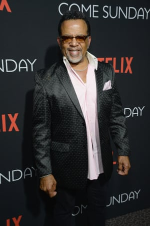 Carlton Pearson attending a special screening of Come Sunday.