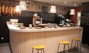 Counter area at Restaurante Casa Urola, San Sebastian, Spain.