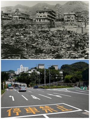 The ruins of Nagasaki Medical College, destruction caused by the atomic bombing of Nagasaki . Three days after Hiroshima a second atomic bomb was dropped on Nagasaki.