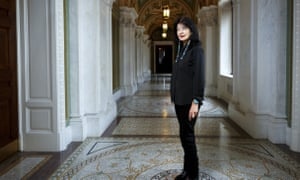 Joy Harjo inside the Library of Congress, in Washington. Harjo has been named the country's next poet laureate, becoming the first Native American to hold that position.