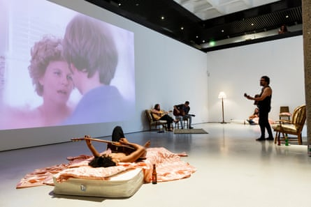 Installation view of Kjartansson's Take Me Here by the Dishwasher: Memorial for a Marriage.
