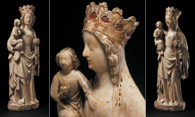 Alabaster Virgin and Child, 14th Century, England, acquired with the support of the Art Fund and the National Heritage Memorial Fund.