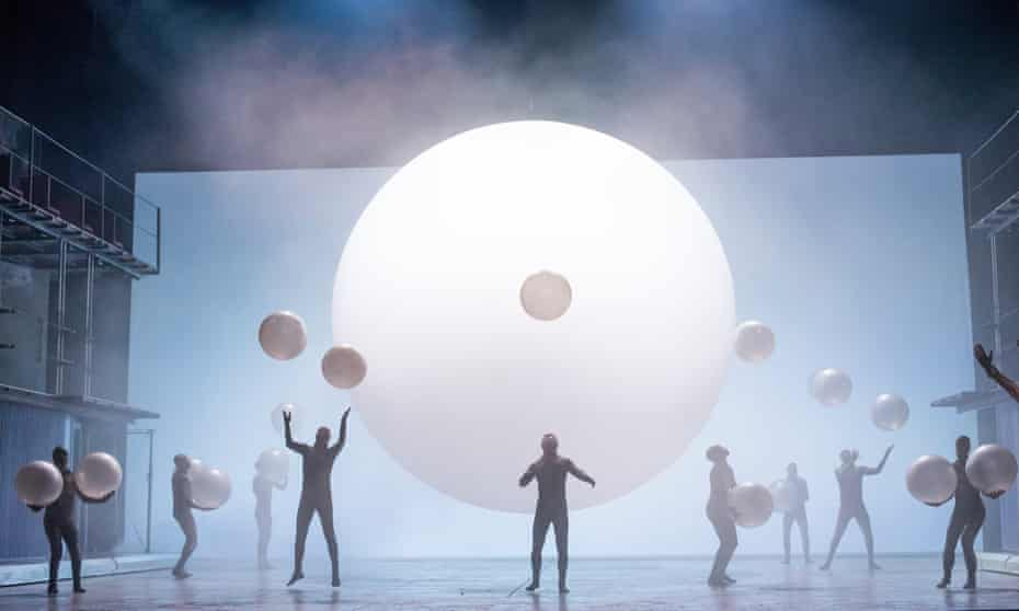 'The perpetual movement correlates well with the loops and repetitions of Glass's score' … Gandini Juggling in ENO's Akhnaten by Philip Glass.