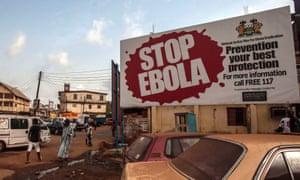 Stop Ebola sign in Sierra Leone