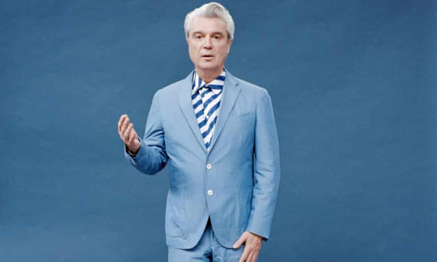 Delivers the songs like show tunes … David Byrne.