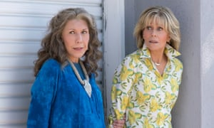 'Lily is just so funny – and I've tried to learn that from her. But it just comes naturally to her': with Lily Tomlin in Grace and Frankie.