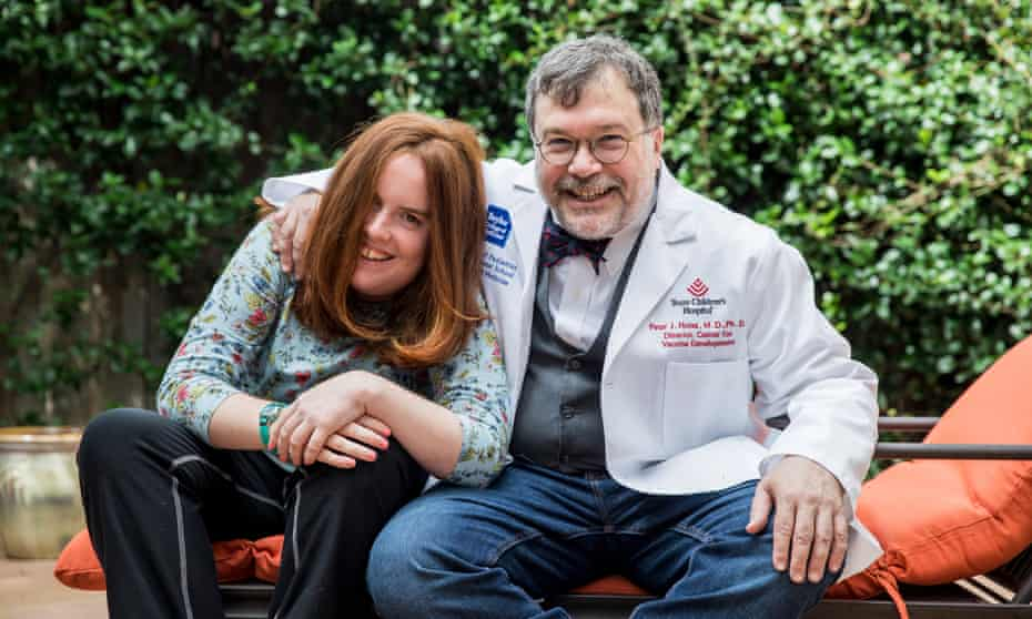 Peter Hotez at home in Texas with his daughter, Rachel, whose autism inspired his book.