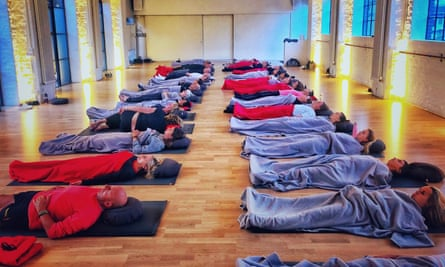 A breathwork session at Re:Centre in Hammersmith.