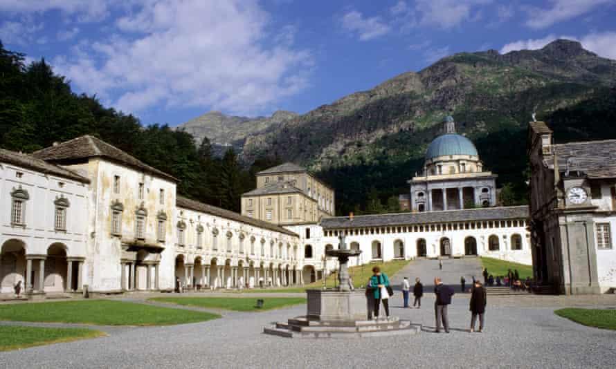 The Oropa Sanctuary, in the Biella Alps