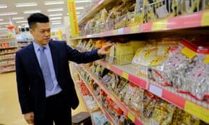 Brian Yip in Wing Yip's Birmingham supermarket