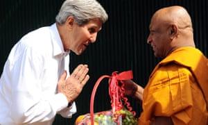 Secretary of State John Kerry in Sri Lanka