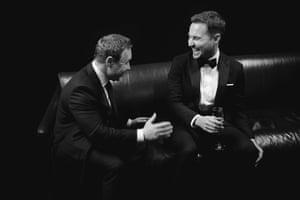 Line of Duty stars Stephen Graham and Martin Compston share a joke