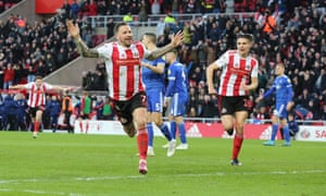 Chris Maguire celebrates scoring the only goal for Sunderland against Ipswich.