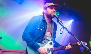 Scott Hutchison playing with second band Mastersystem on 28 April.
