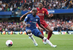 N'Golo Kanté in action for Chelsea against Liverpool
