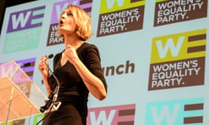 Women's Equality party leader Sophie Walker speaks at WEP's policy launch in October 2015