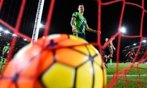 Southampton's Jose Fonte of shows his dejection after Matt Ritchie's free-kick, which was pushed away from goal by Southampton goalkeeper Fraser Forster. Bournemouth defender Steve Cook hooked the ball into the net.