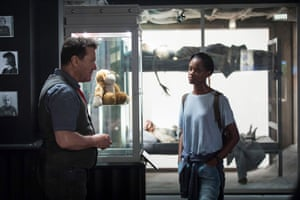 'I haven't seen her since to apologise' … Hodge with Letitia Wright in Black Mirror.