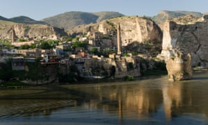 Most of Hasankeyf in Batman province, Turkey, will be underwater once Ilisu dam is completed.