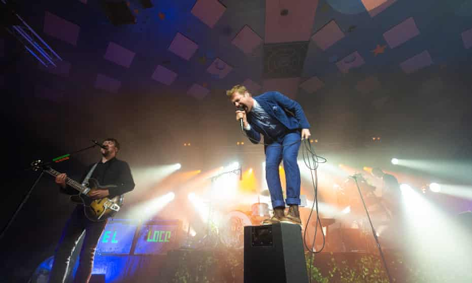 Wilson on stage with Kaiser Chiefs in Glasgow in June.
